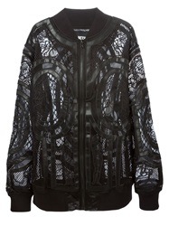 Ktz Embroidered Mesh Bomber Jacket