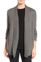 Eileen Fisher Women's Lush Merino Wool Blend Shawl Collar Cardigan Ash