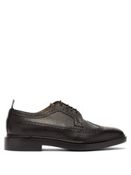 Thom Browne Pebble Grained Leather Longwing Brogues Black