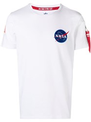 Alpha Industries Nasa Embroidered T Shirt White