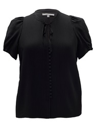 Chesca Pleated Blouse Black