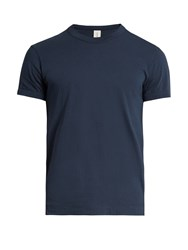 Sorensen Dancer Scoop Neck Cotton T Shirt Navy