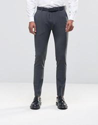 Selected Homme Slim Suit Trousers Grey