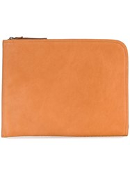 Officine Creative Tablet Zipped Clutch Brown