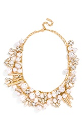 Baublebar 'Faux Pearl Shower' Bib Necklace Clear Gold