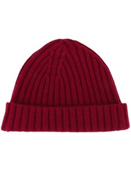 Vanessa Bruno Rib Knit Beanie Red