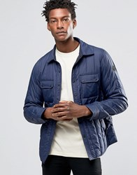 Replay Quilted Nylon Jacket In Navy Navy