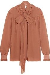 See By Chloe Pussy Bow Chiffon Blouse Antique Rose