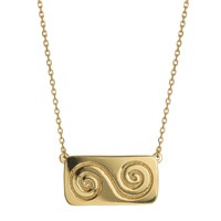 Liwu Jewellery Growth Double Spiral Gold Necklace