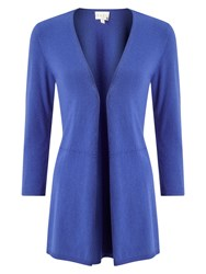 East Swing Hem Cardigan Blue