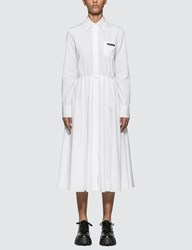 Prada Chemisier Dress White