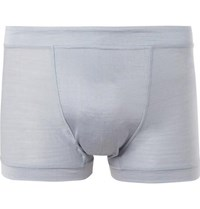 Secondskin Silk Jersey Boxer Briefs Light Blue