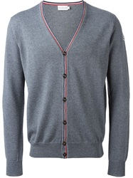 Moncler V Neck Cardigan Grey