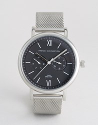 French Connection Analog Quartz Watch Silver