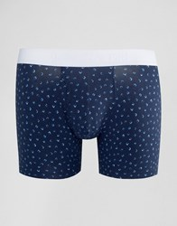 Abercrombie And Fitch Trunks With Mini Print Navy