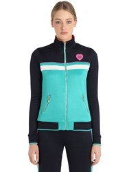 Juicy Couture Stripes Jersey Bomber Jacket