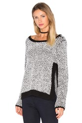 Lamade Aubrey Side Slit Sweater Black And White
