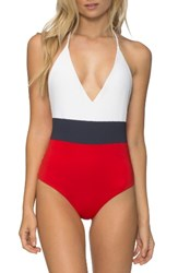 Tavik Women's Chase One Piece Swimsuit White Colorblock