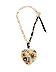 Betsey Johnson Lucky Charms Mixed Multi Charm Heart Pendant Necklace