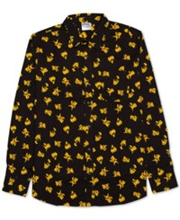 Jem Men's Pokemon Pikachu Print Shirt Black