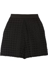 Sandro Prunelle Cloque Jacquard Shorts Black