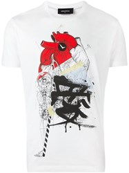 Dsquared2 Heart Sketch T Shirt White