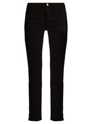 Frame Le High Straight Leg Cropped Jeans Black