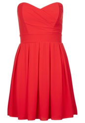 Tfnc Elida Chiffon Cocktail Dress Party Dress Red