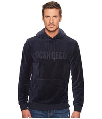 Dc Maytown Velvet Fleece Pullover Hoodie Dark Indigo Men's Sweatshirt Blue