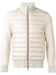 Moncler Padded Jacket Men Cotton Feather Down Polyamide S Nude Neutrals