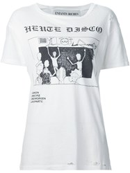 Enfants Riches Deprimes 'Heute Disco' T Shirt White