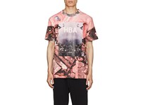 Hood By Air Overcome Print Cotton T Shirt Pink