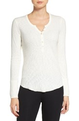 Pj Salvage Women's Thermal Henley Natural