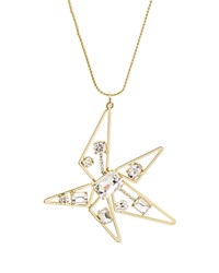 Rj Graziano Abstract Star Pendant Necklace 28 Gold
