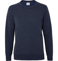 Snow Peak Wool And Cotton Blend Sweatshirt Blue