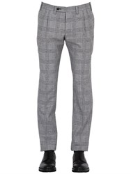 Gabriele Pasini 18Cm Prince Of Wales Wool And Cotton Pants