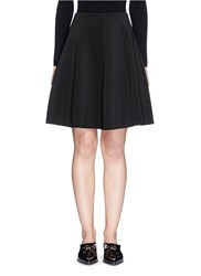 Theory 'Igtios' Bonded Jersey Skater Skirt Black