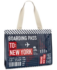 Macy's New York Boarding Pass Tote Only At Blue