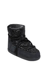 Inuikii 20Mm Sequin And Suede Boots