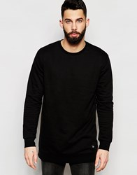 Only And Sons Longline Sweatshirt Black
