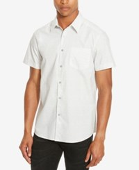 Kenneth Cole Reaction Men's Waterfall Print Short Sleeve Shirt Seagull Combo