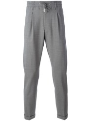 Eleventy Drawstring Waistband Tailored Trousers Grey