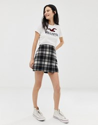 Hollister Check Mini Skirt Black Plaid