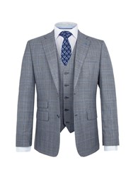 Paul Costelloe Men's Walsh Wool Checked Suit Grey