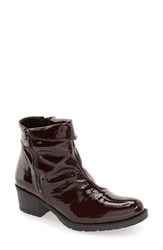 Bos. And Co. Women's 'Borano' Slouchy Waterproof Bootie Red Crinkle Patnet Leather