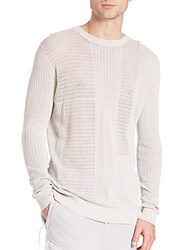 Diesel Black Gold Sheer Sweater Light Grey