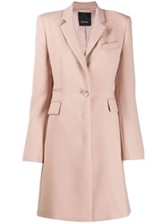 Pinko Fitted Single Breasted Coat Neutrals