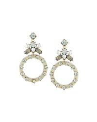 Fragments For Neiman Marcus Crystal Shell Statement Earrings White