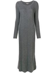 N.Peal Long Knitted Dress Grey