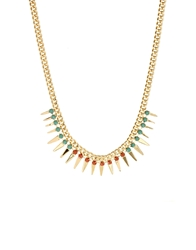Designsix Tooting Spike Collar Necklace Gold